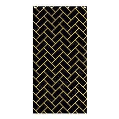 Brick2 Black Marble & Yellow Colored Pencil (r) Shower Curtain 36  X 72  (stall)