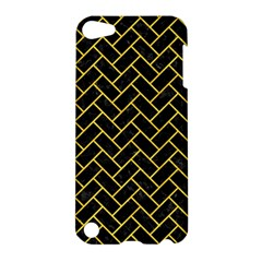 Brick2 Black Marble & Yellow Colored Pencil (r) Apple Ipod Touch 5 Hardshell Case