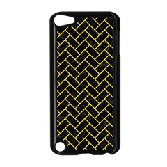 Brick2 Black Marble & Yellow Colored Pencil (r) Apple Ipod Touch 5 Case (black)