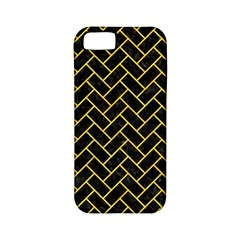 Brick2 Black Marble & Yellow Colored Pencil (r) Apple Iphone 5 Classic Hardshell Case (pc+silicone)
