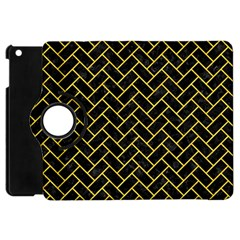 Brick2 Black Marble & Yellow Colored Pencil (r) Apple Ipad Mini Flip 360 Case