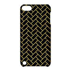 Brick2 Black Marble & Yellow Colored Pencil (r) Apple Ipod Touch 5 Hardshell Case With Stand