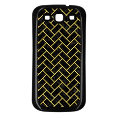 Brick2 Black Marble & Yellow Colored Pencil (r) Samsung Galaxy S3 Back Case (black)