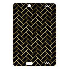 Brick2 Black Marble & Yellow Colored Pencil (r) Amazon Kindle Fire Hd (2013) Hardshell Case