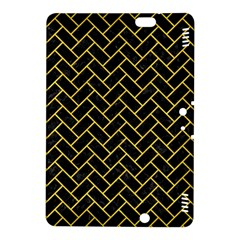 Brick2 Black Marble & Yellow Colored Pencil (r) Kindle Fire Hdx 8 9  Hardshell Case