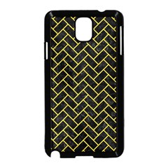 Brick2 Black Marble & Yellow Colored Pencil (r) Samsung Galaxy Note 3 Neo Hardshell Case (black)