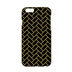 Brick2 Black Marble & Yellow Colored Pencil (r) Apple Iphone 6/6s Hardshell Case