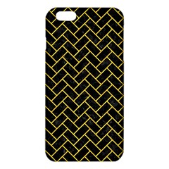 Brick2 Black Marble & Yellow Colored Pencil (r) Iphone 6 Plus/6s Plus Tpu Case