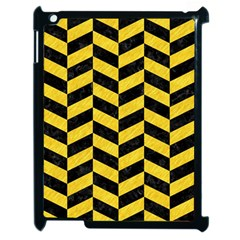 Chevron1 Black Marble & Yellow Colored Pencil Apple Ipad 2 Case (black)