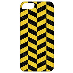 Chevron1 Black Marble & Yellow Colored Pencil Apple Iphone 5 Classic Hardshell Case