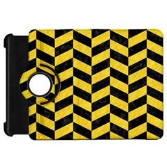 Chevron1 Black Marble & Yellow Colored Pencil Kindle Fire Hd 7
