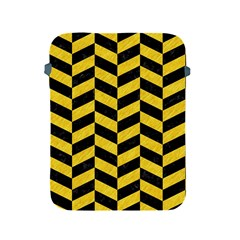 Chevron1 Black Marble & Yellow Colored Pencil Apple Ipad 2/3/4 Protective Soft Cases