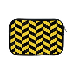 Chevron1 Black Marble & Yellow Colored Pencil Apple Ipad Mini Zipper Cases