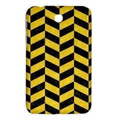 Chevron1 Black Marble & Yellow Colored Pencil Samsung Galaxy Tab 3 (7 ) P3200 Hardshell Case