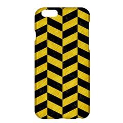 Chevron1 Black Marble & Yellow Colored Pencil Apple Iphone 6 Plus/6s Plus Hardshell Case