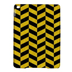 Chevron1 Black Marble & Yellow Colored Pencil Ipad Air 2 Hardshell Cases
