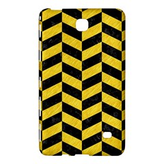 Chevron1 Black Marble & Yellow Colored Pencil Samsung Galaxy Tab 4 (7 ) Hardshell Case