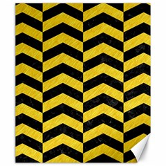 Chevron2 Black Marble & Yellow Colored Pencil Canvas 20  X 24