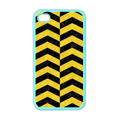 Chevron2 Black Marble & Yellow Colored Pencil Apple Iphone 4 Case (color)