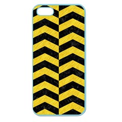 Chevron2 Black Marble & Yellow Colored Pencil Apple Seamless Iphone 5 Case (color)