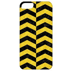 Chevron2 Black Marble & Yellow Colored Pencil Apple Iphone 5 Classic Hardshell Case