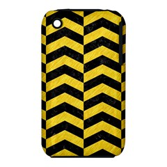Chevron2 Black Marble & Yellow Colored Pencil Iphone 3s/3gs