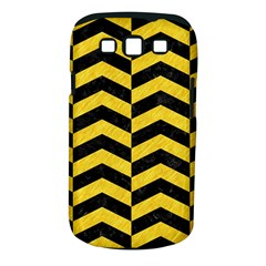 Chevron2 Black Marble & Yellow Colored Pencil Samsung Galaxy S Iii Classic Hardshell Case (pc+silicone)