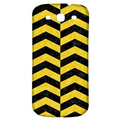 Chevron2 Black Marble & Yellow Colored Pencil Samsung Galaxy S3 S Iii Classic Hardshell Back Case