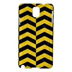Chevron2 Black Marble & Yellow Colored Pencil Samsung Galaxy Note 3 N9005 Hardshell Case