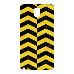 Chevron2 Black Marble & Yellow Colored Pencil Samsung Galaxy Note 3 N9005 Hardshell Back Case