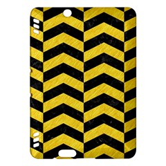 Chevron2 Black Marble & Yellow Colored Pencil Kindle Fire Hdx Hardshell Case