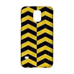 Chevron2 Black Marble & Yellow Colored Pencil Samsung Galaxy S5 Hardshell Case