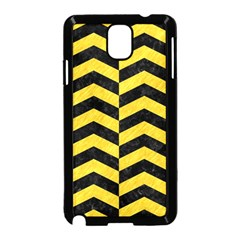 Chevron2 Black Marble & Yellow Colored Pencil Samsung Galaxy Note 3 Neo Hardshell Case (black)