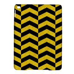 Chevron2 Black Marble & Yellow Colored Pencil Ipad Air 2 Hardshell Cases