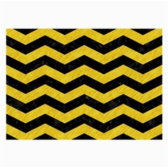 Chevron3 Black Marble & Yellow Colored Pencil Large Glasses Cloth (2 Side)