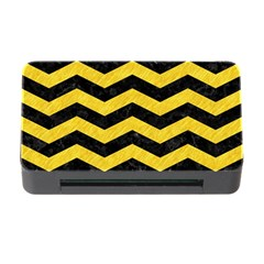 Chevron3 Black Marble & Yellow Colored Pencil Memory Card Reader With Cf