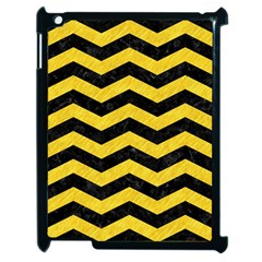 Chevron3 Black Marble & Yellow Colored Pencil Apple Ipad 2 Case (black)