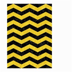 Chevron3 Black Marble & Yellow Colored Pencil Small Garden Flag (two Sides)