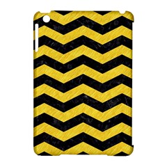 Chevron3 Black Marble & Yellow Colored Pencil Apple Ipad Mini Hardshell Case (compatible With Smart Cover)