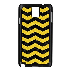 Chevron3 Black Marble & Yellow Colored Pencil Samsung Galaxy Note 3 N9005 Case (black)