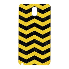 Chevron3 Black Marble & Yellow Colored Pencil Samsung Galaxy Note 3 N9005 Hardshell Back Case