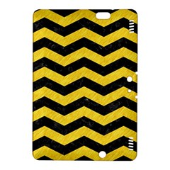 Chevron3 Black Marble & Yellow Colored Pencil Kindle Fire Hdx 8 9  Hardshell Case