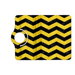 Chevron3 Black Marble & Yellow Colored Pencil Kindle Fire Hd (2013) Flip 360 Case