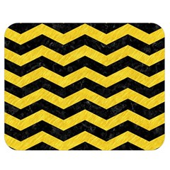 Chevron3 Black Marble & Yellow Colored Pencil Double Sided Flano Blanket (medium)