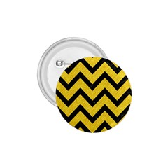Chevron9 Black Marble & Yellow Colored Pencil 1 75  Buttons