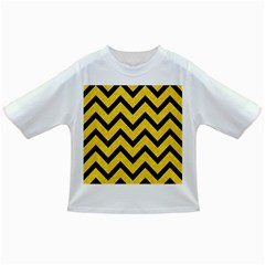 Chevron9 Black Marble & Yellow Colored Pencil Infant/toddler T Shirts