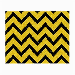 Chevron9 Black Marble & Yellow Colored Pencil Small Glasses Cloth (2 Side)