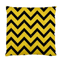 Chevron9 Black Marble & Yellow Colored Pencil Standard Cushion Case (one Side)