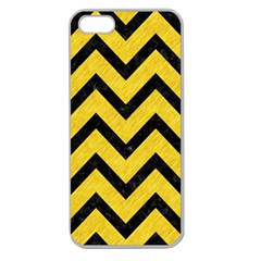 Chevron9 Black Marble & Yellow Colored Pencil Apple Seamless Iphone 5 Case (clear)