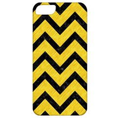 Chevron9 Black Marble & Yellow Colored Pencil Apple Iphone 5 Classic Hardshell Case